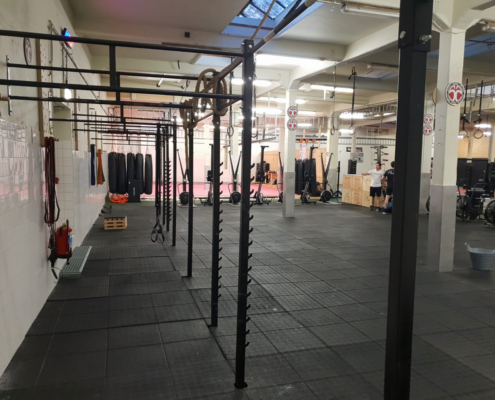 CrossFit ruimte bij Impact Sports Academy te Breda