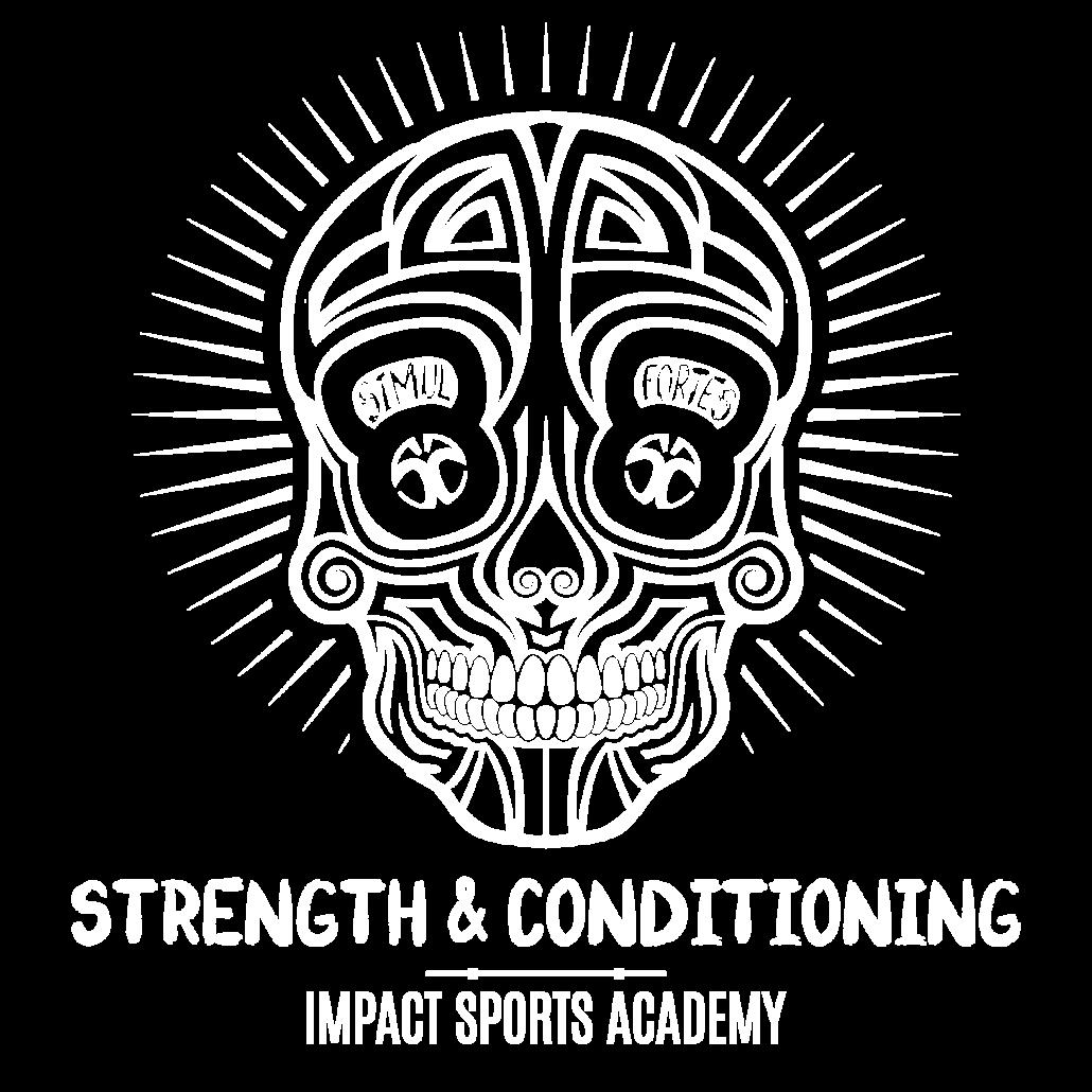 logo skull impact sports academy strength & conditioning